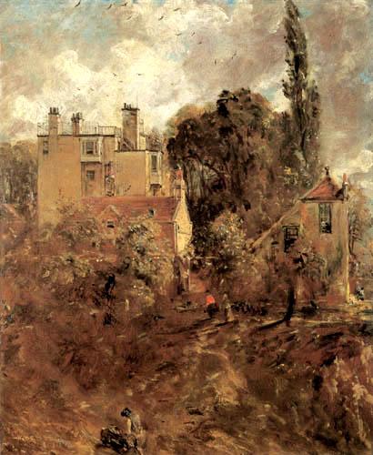 Constable. La casa del almirante en Hampstead, 1820-1825