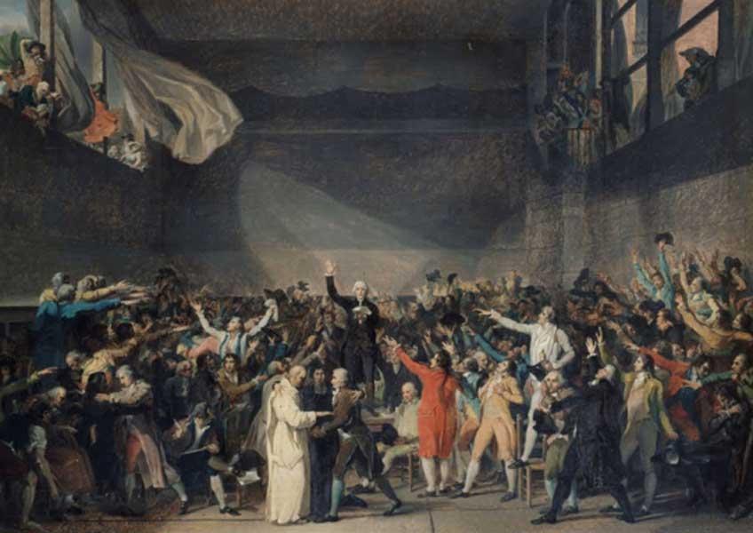 Jacques-Louis David. Juramento del jeu de Paume, 1789. Musée Carnavalet