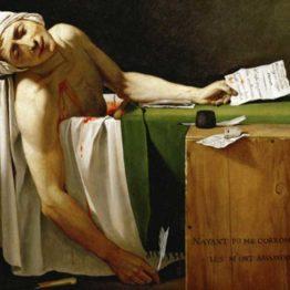 Jacques-Louis David. La muerte de Marat (fragmento), 1793. Museos Reales de Bellas Artes de Bélgica