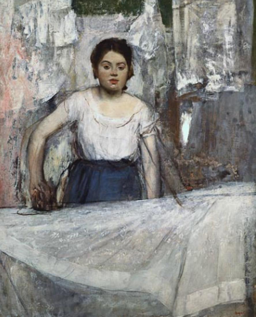 Degas. La planchadora, 1869. Neue Pinakothek, Múnich