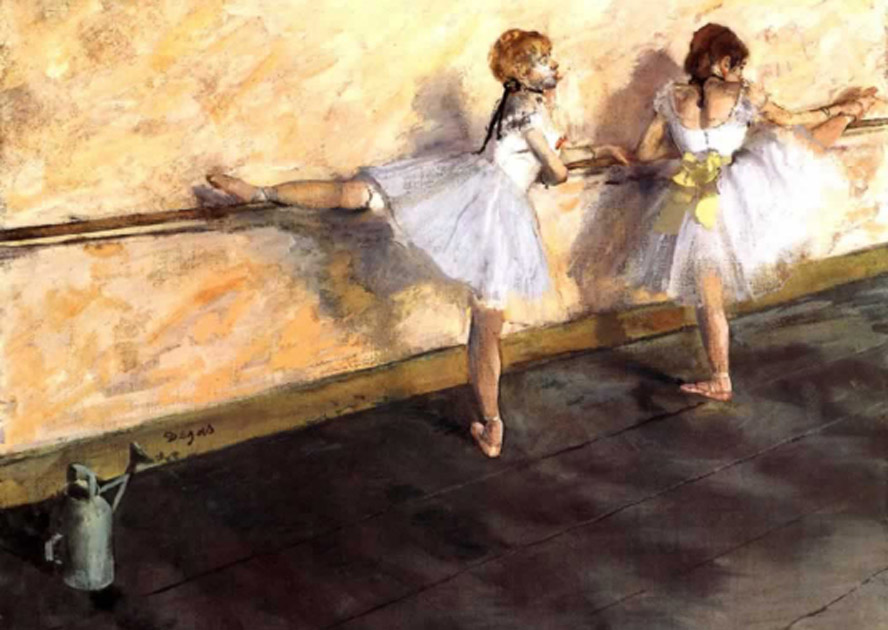 Degas. Bailarinas en la barra, 1876-1877- Metropolitan Museum