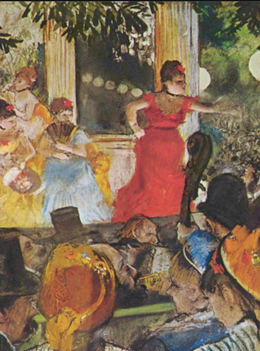 Degas. El café-concert Les Ambassadeurs, 1875-1877. Musée des Beaux-Arts de Lyon