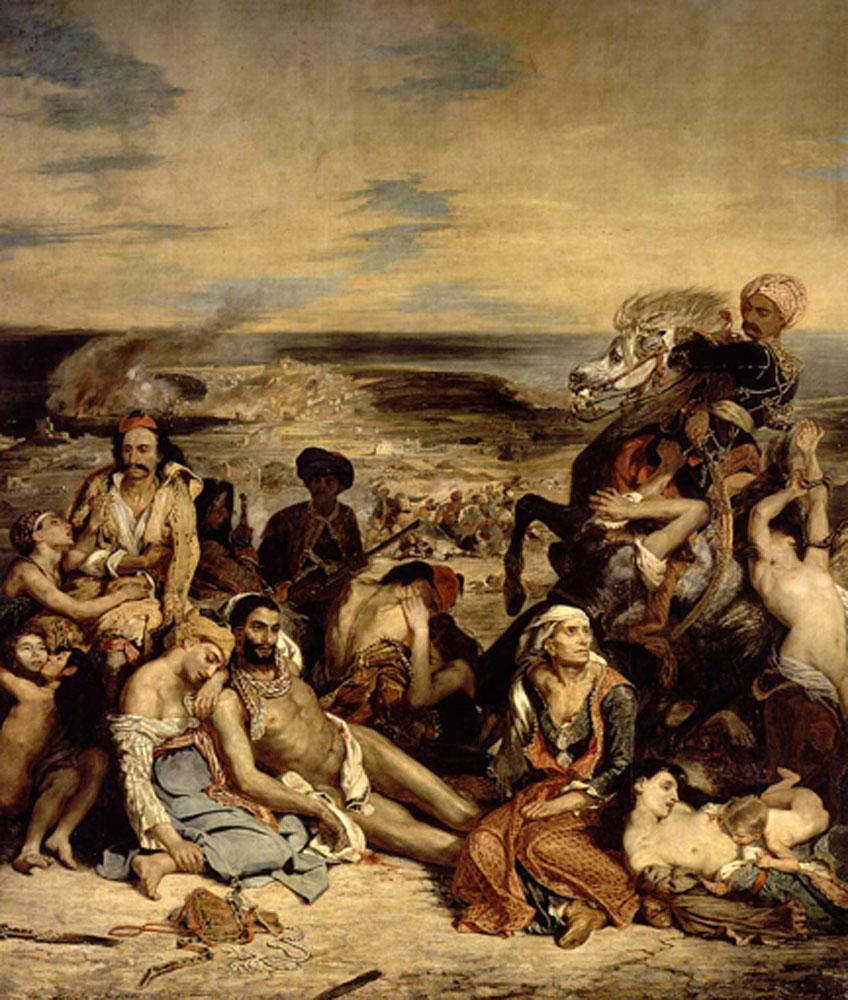 Delacroix. La matanza de Chios, 1824. Museo del Louvre