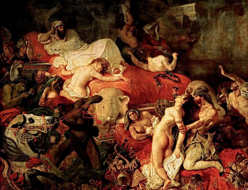 Delacroix. La muerte de Sardanápalo, 1827. Museo del Louvre
