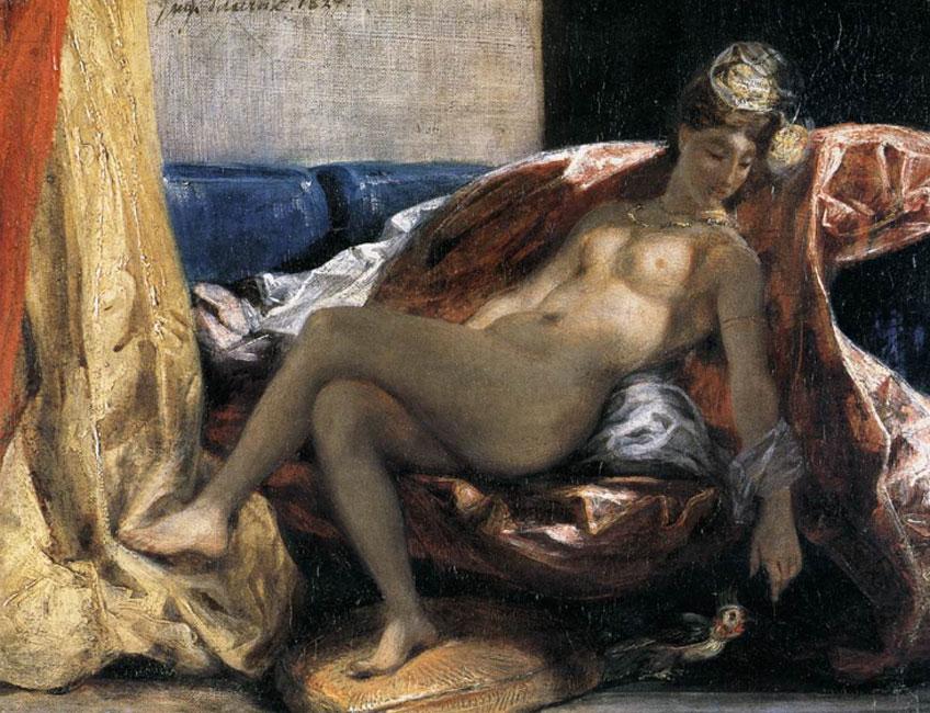 Delacroix. La mujer del papagayo, 1827