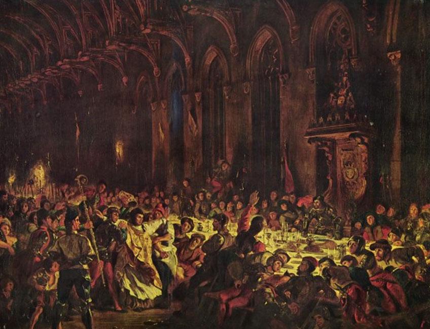 Delacroix. Asesinato del obispo de Lieja, 1829. Museo del Louvre