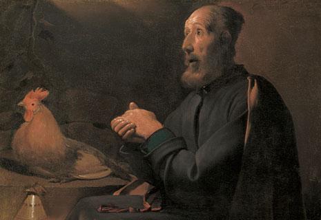 Georges de la Tour. Las lágrimas de san Pedro. The Cleveland Museum of Art