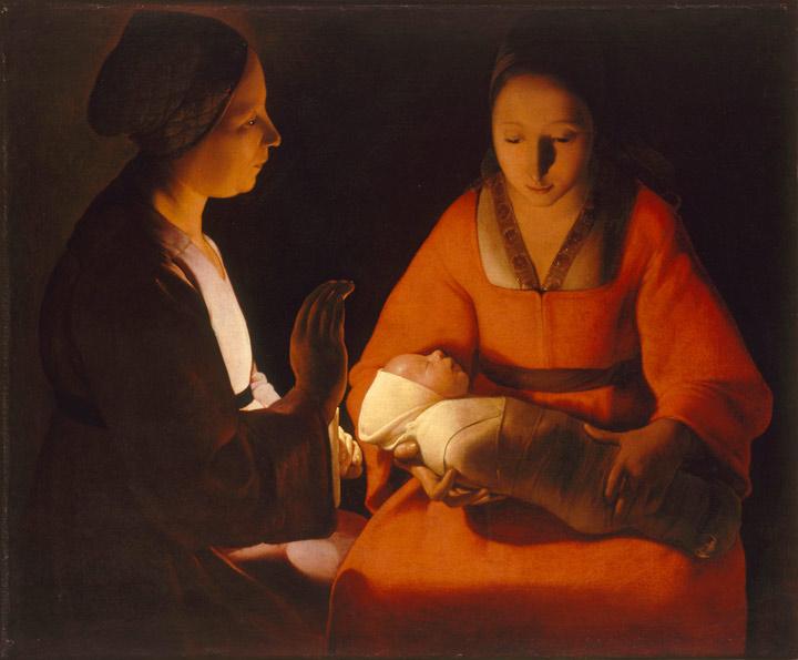 Georges de la Tour. El recién nacido. Musée des Beaux-Arts, Rennes