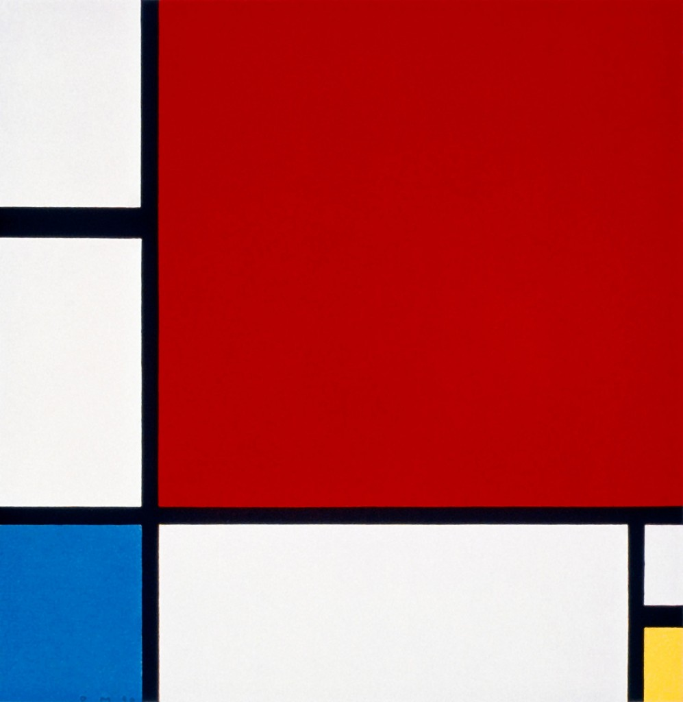 Piet Mondrian. Composition II in Red, Blue, and Yellow, 1930