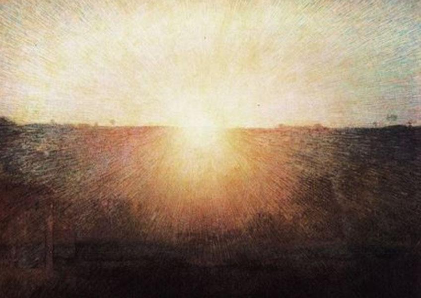 Giuseppe Pellizza di Volpedo. Il sole, 1904. Galleria Nazionale d´ Arte Moderna e Contemporanea, Roma