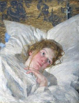 Giovanni Segantini. Petalo di rosa, 1890. Colección particular