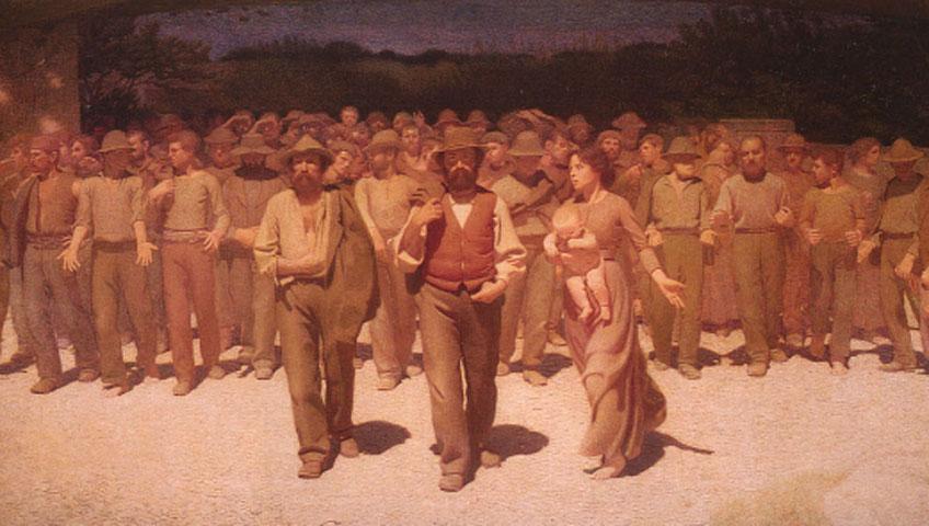 Giuseppe Pellizza di Volpedo. Il quarto stato, 1891-1901. Museo del Novecento, Milán