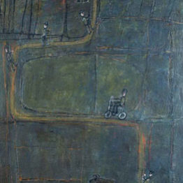 Jean Dubuffet. Camino con hombres, 1944. Museum Ludwig, Colonia