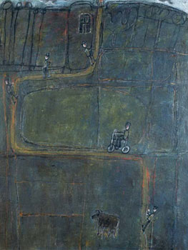 Jean Dubuffet. Camino con hombres, 1944. Museum Ludwig, Colonia