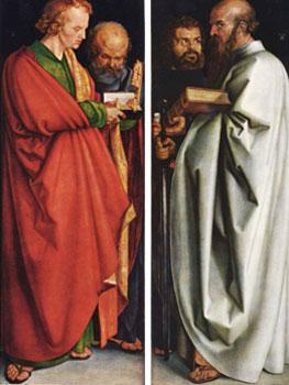 Alberto Durero. Los cuatro apóstoles, 1526. Alte Pinakothek, Múnich