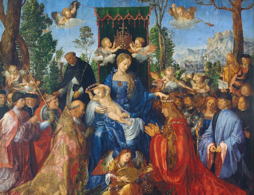 Alberto Durero. Fiesta del Rosario, 1506. Galería Nacional de Praga