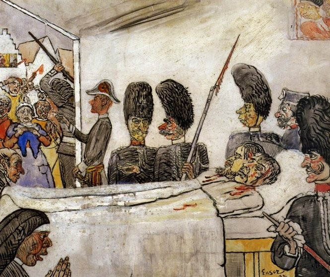 James Ensor. Los gendarmes, 1888