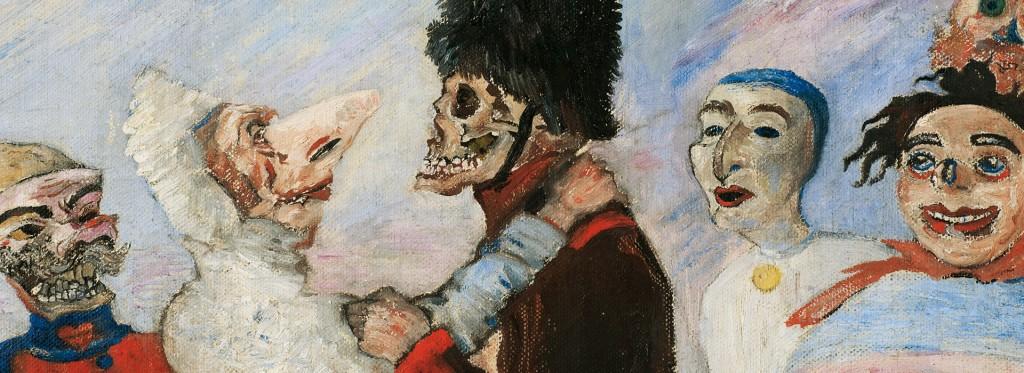 James Ensor. Squelette arrêtant masques