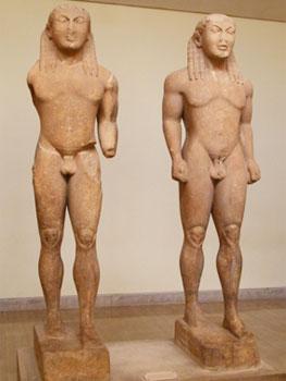 Cleobis y Bitón, hacia 600 a.C.
