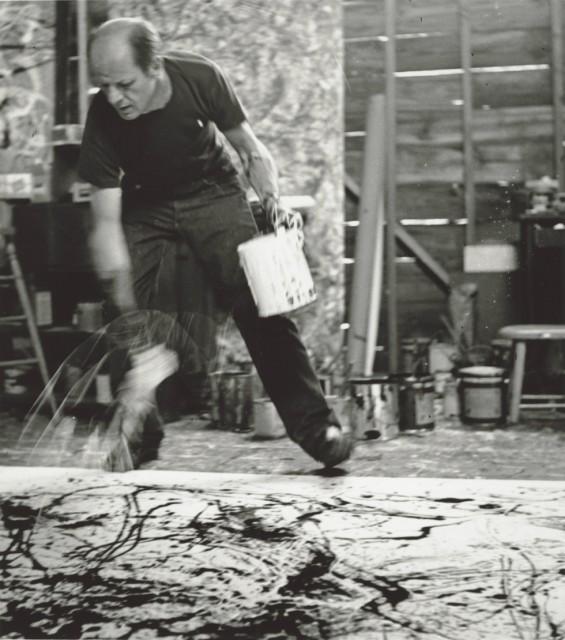 Jackson Pollock en acción