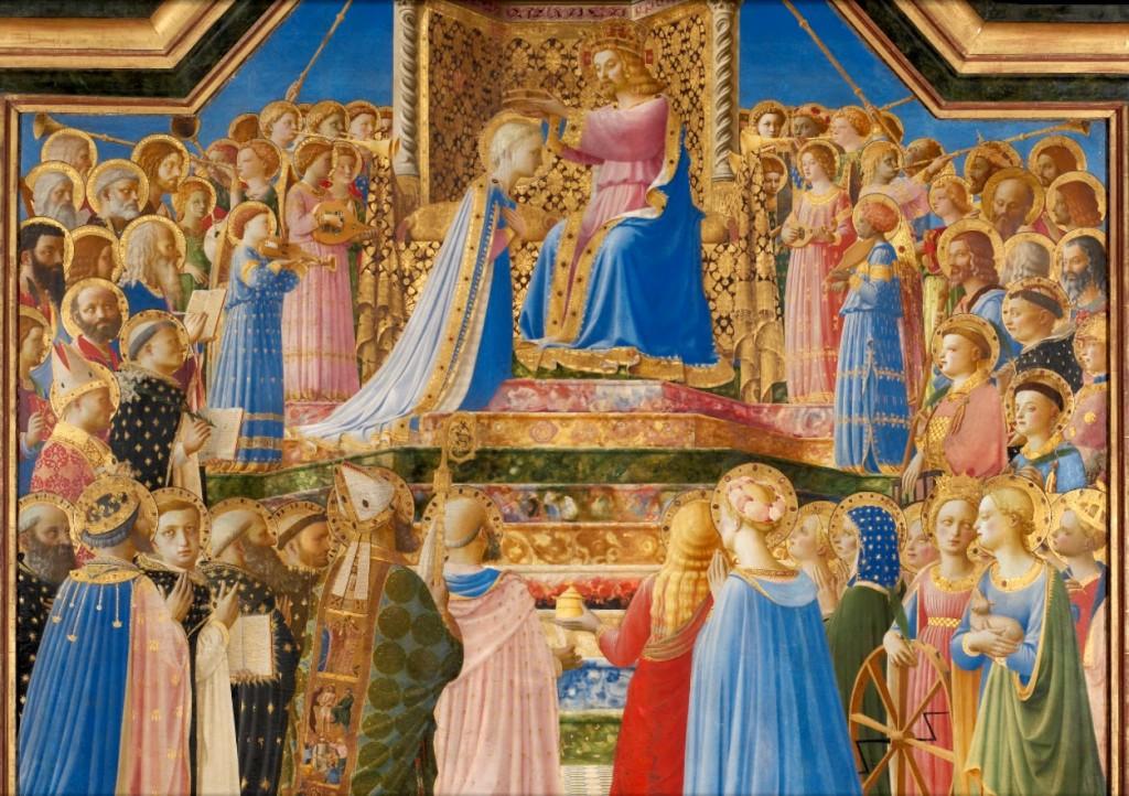 Fra Angelico. Coronación de la Virgen, 1434. Museo del Louvre