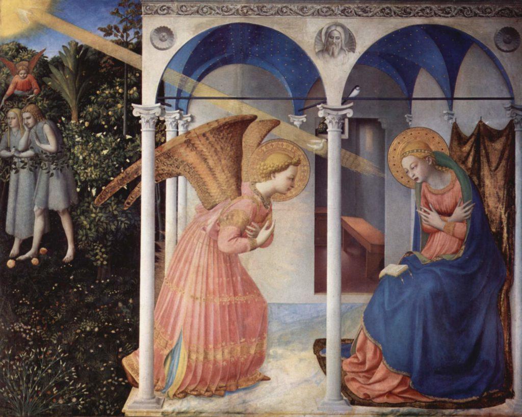 Fra Angelico. Anunciación, 1430-1432. Museo del Prado