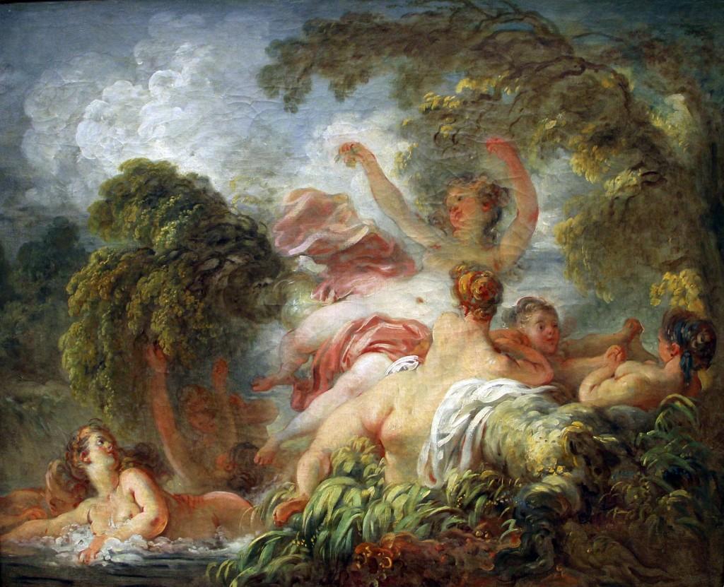 Fragonard. Las bañistas, 1765. Musée du Louvre