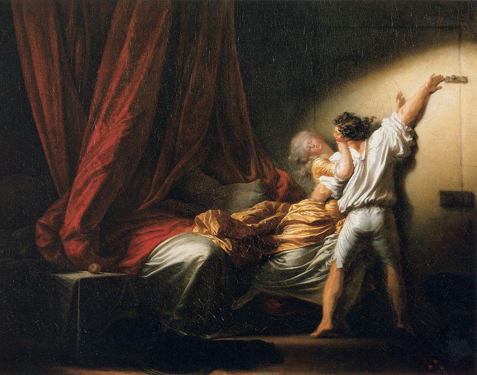 Fragonard. El cerrojo, hacia 1777. Musée du Louvre