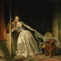 Fragonard. El beso robado, hacia 1790. Hermitage Museum, San Petersburgo