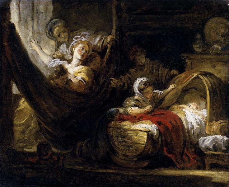 Fragonard. La cuna, hacia 1765. Musée de Picardie, Amiens