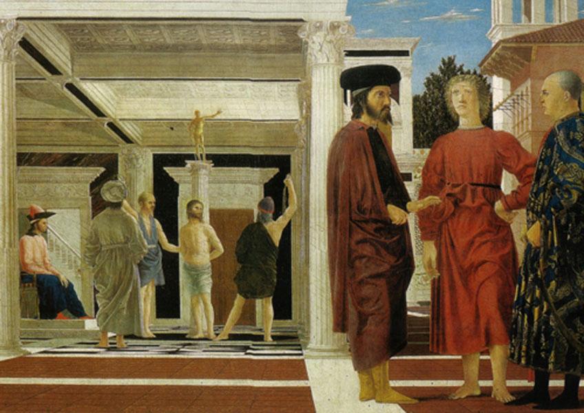 Piero della Francesca. La Flagelación, 1450-1470
