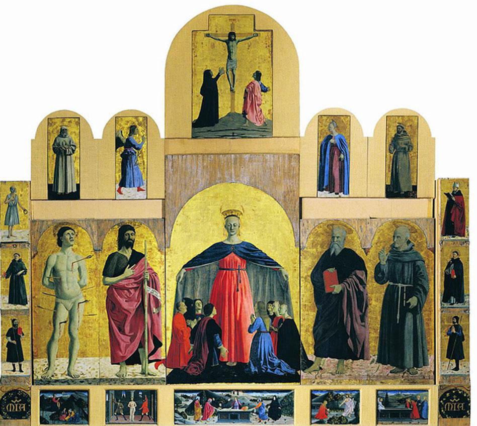 Piero della Francesca. Retablo de la Misericordia, 1445-1462. Museo Civico de Sansepolcro