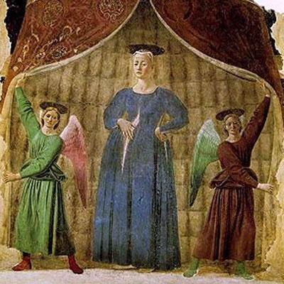Piero della Francesca. Madonna del Parto, hacia 1460. Museo de la Madonna del Parto, Monterchi
