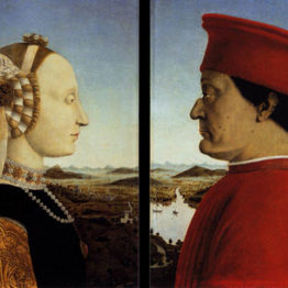 Piero della Francesca. Retrato doble de los duques de Urbino, hacia 1465. Galleria degli Uffizi