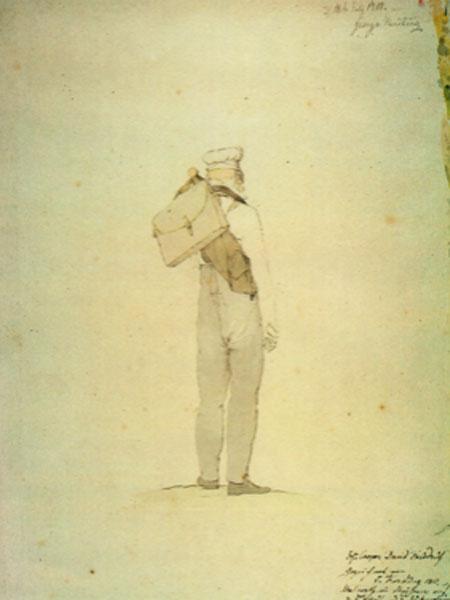Kersting. Friedrich caminando hacia las altas montañas, 1810. Berlin State Museums