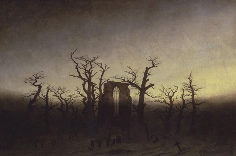 Friedrich. Abadía en el robledal, 1809. Antigua Galería Nacional de Berlín