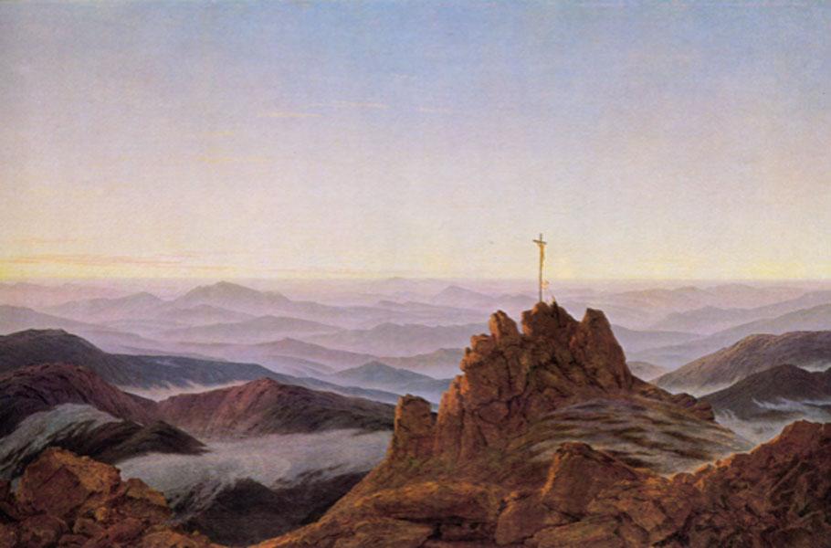 Friedrich. Amanecer en el Riesengebirge, 1810-1811. Staatliche Museen de Berlín