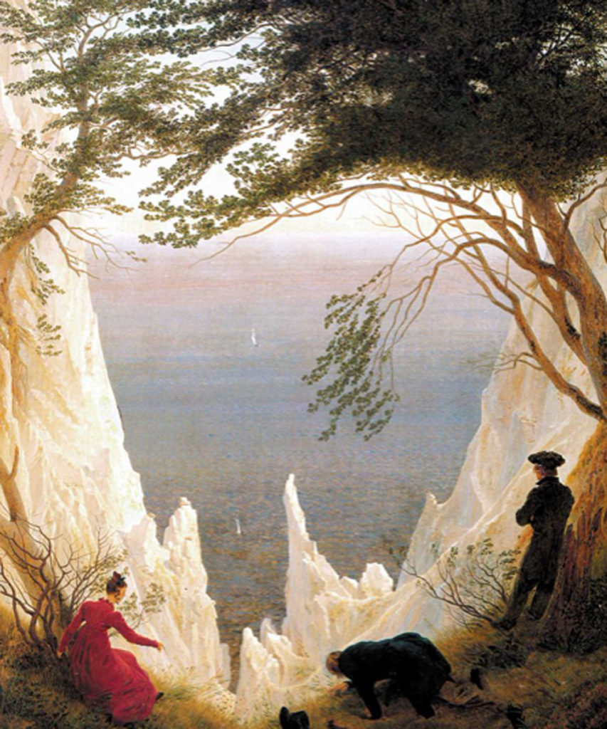 Friedrich. Rocas cretáceas en Rügen, 1818. Fundación Oskar Reinhart, Winterthur