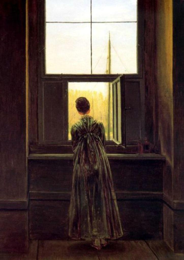 Friedrich. Mujer en la ventana, 1822. Staatliche Museen de Berlín