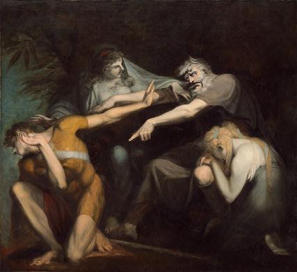 Füssli. Edipo acusando a su hijo Polínices, 1776-1778