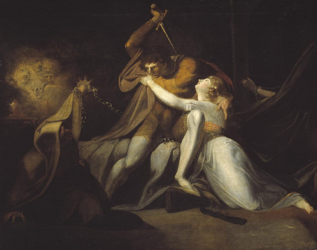 Füssli. Percival liberando a Belisana del encantamiento de Urma, 1785