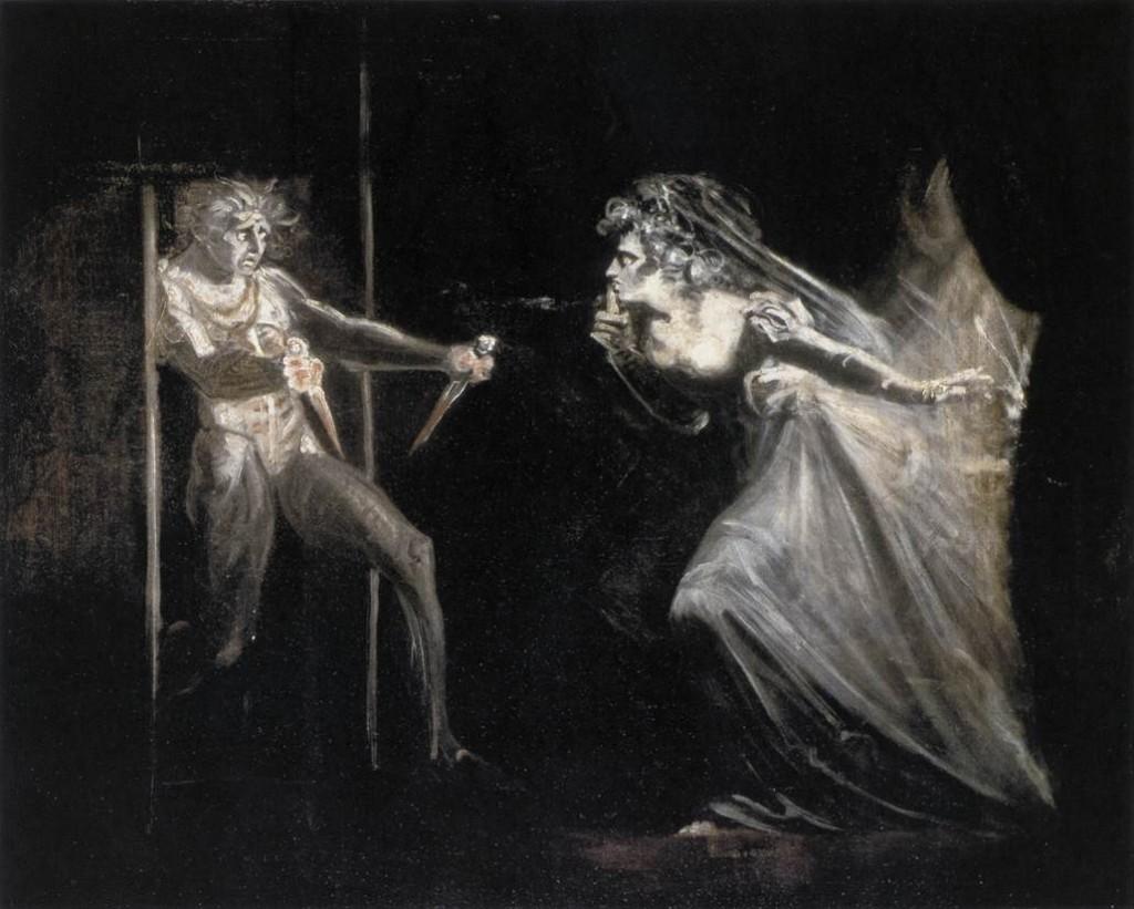 Füssli. Lady Macbeth con las dagas, 1812
