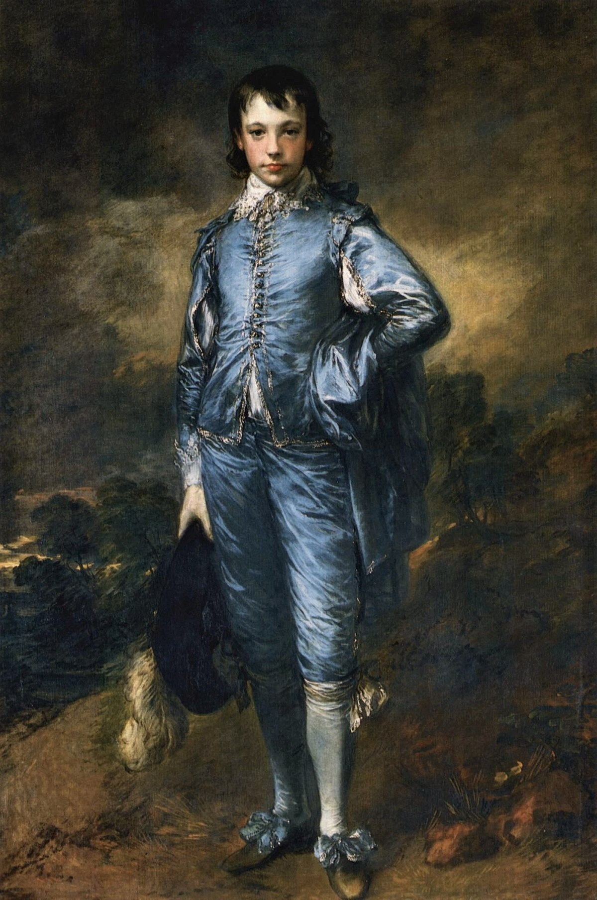 Thomas Gainsborough. Blue boy, hacia 1770