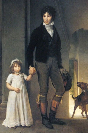 François Gerard. ean-Baptiste Isabey, miniaturista, con su hija, 1795. Museo del Louvre