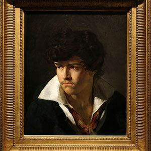Théodore Géricault. Retrato de Delacroix joven con cuello abierto. Jean-Luc Baroni Ltd