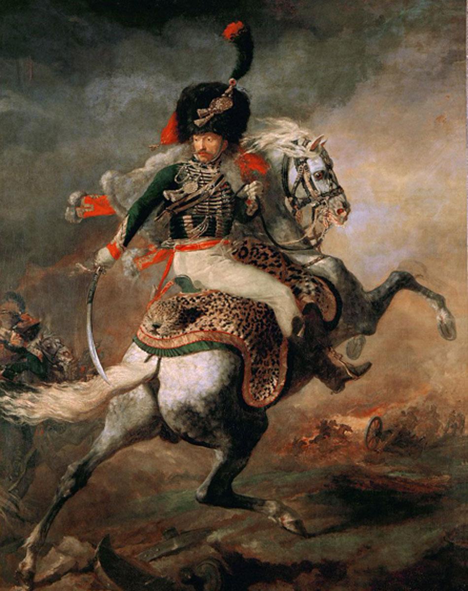 Géricault. Oficial de cazadores a la carga, 1812. Musée du Louvre