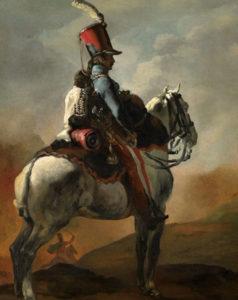 Géricault. Trompeta de husares a caballo, 1817