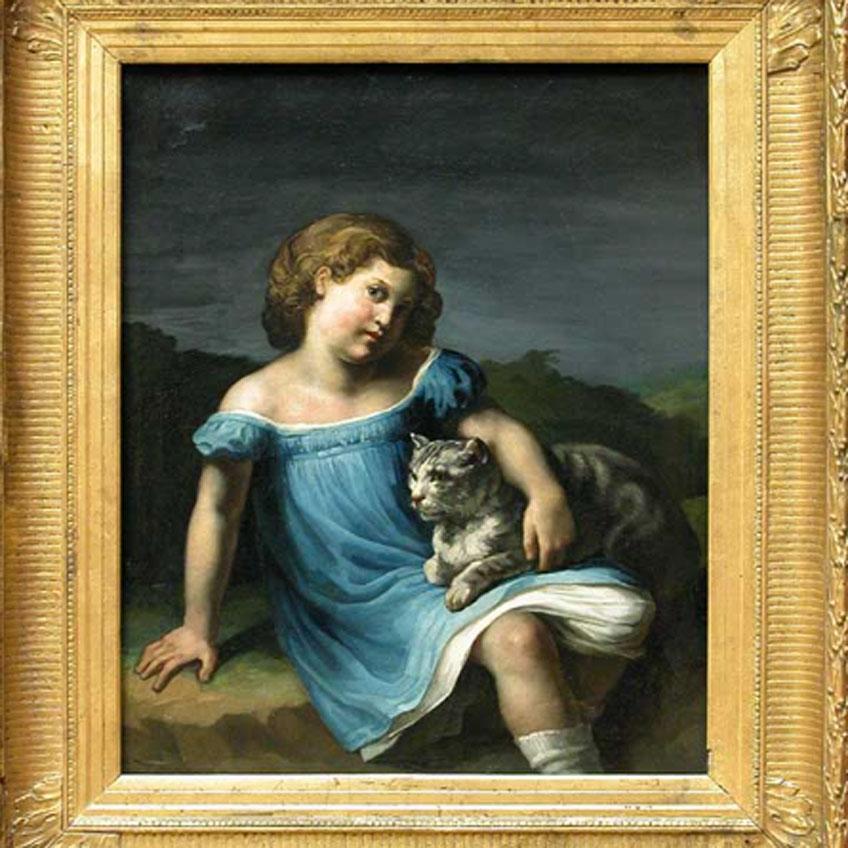 Géricault. Retrato de Louise Vernet, hacia 1818. Musée du Louvre