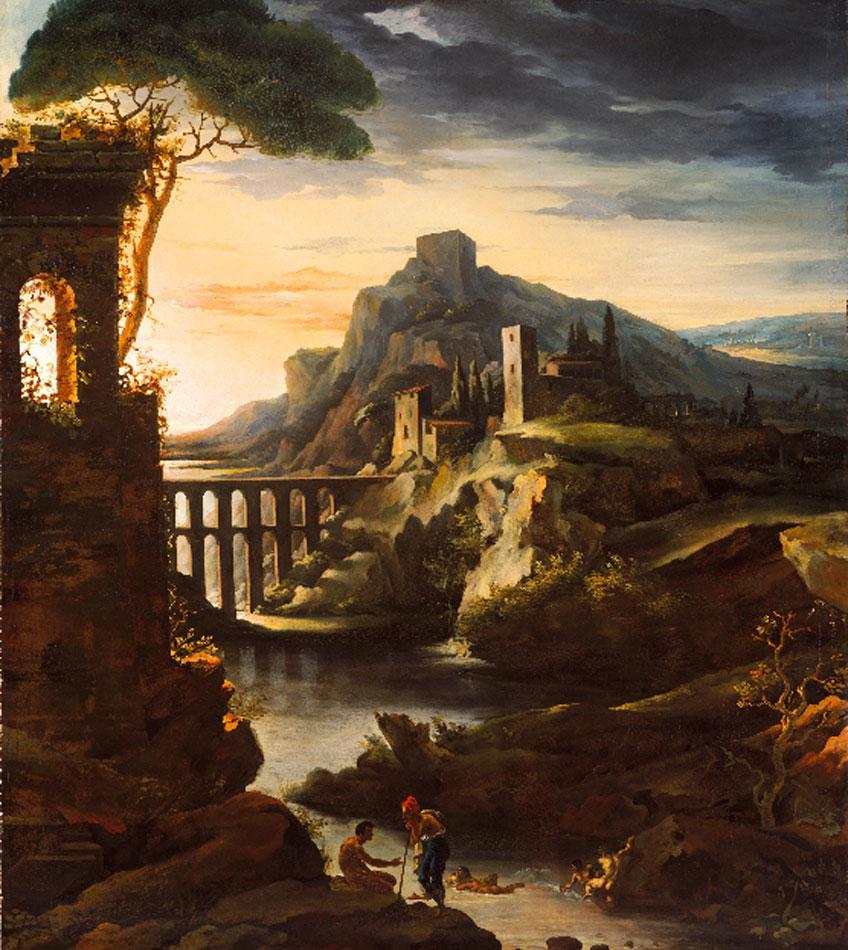 Géricault. Paisaje con acueducto, 1818. Metropolitan Museum