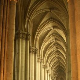 Bóveda de cruceria de la catedral de Reims, s. XIII
